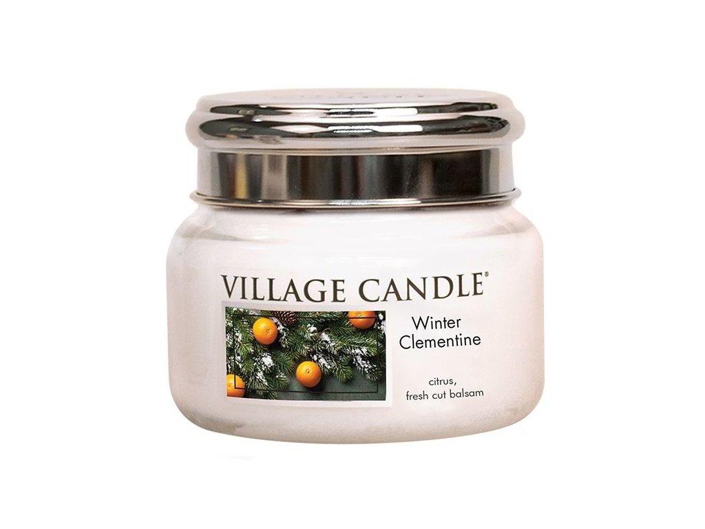 Village Candle Vonná svíčka ve skle, Sváteční Mandarinka - Winter Clementine, 11oz