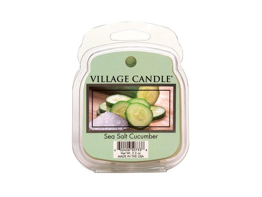 Village Candle Vosk, Mořská Svěžest - Sea Salt Cucumber, 62g
