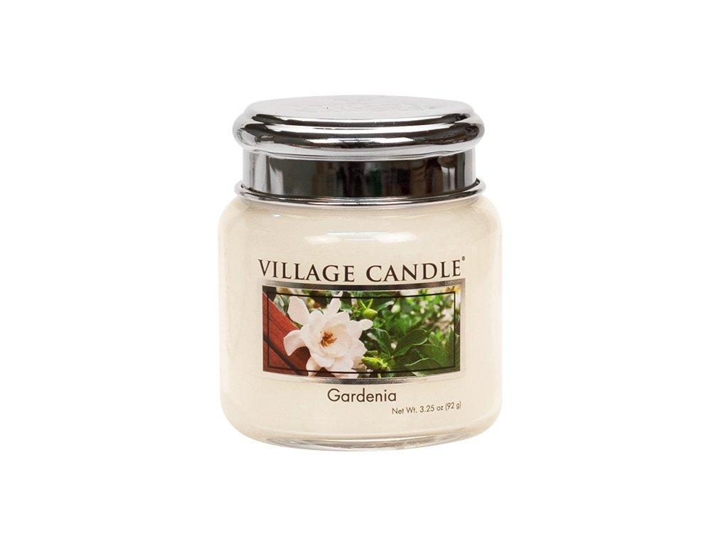 Village Candle Vonná svíčka ve skle, Gardénie - Gardenia, 3,75oz