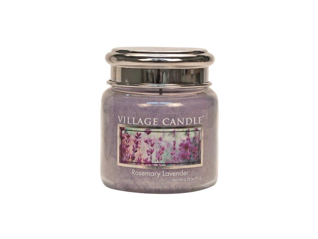 Village Candle Vonná svíčka ve skle, Rozmarýn Levandule - Rosemary Lavender, 3,75oz