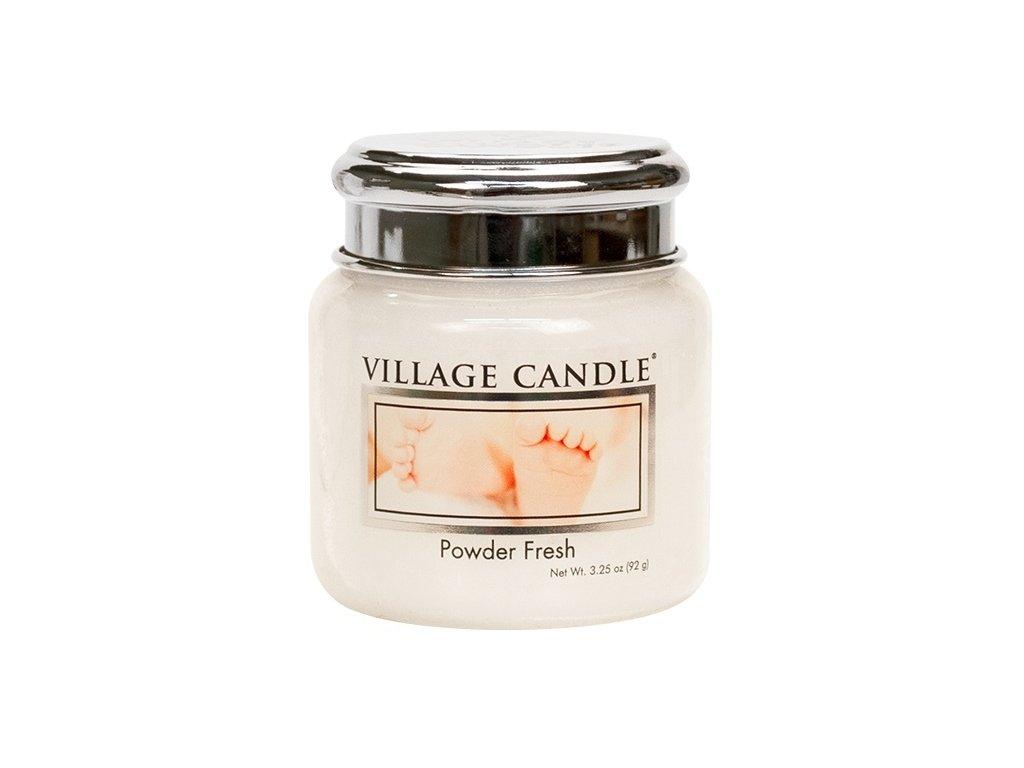 Village Candle Vonná svíčka ve skle, Pudrová svěžest - Powder fresh, 3,75oz
