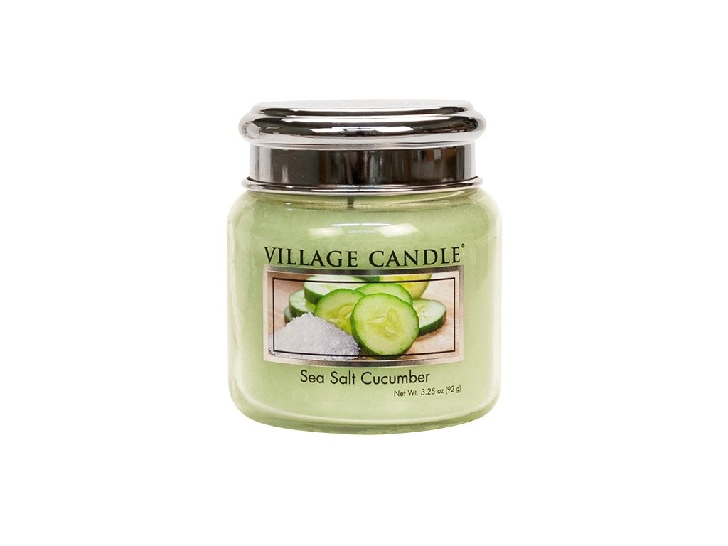 Village Candle Vonná svíčka ve skle - Mořská Svěžest - Sea Salt Cucumber, 3,75oz