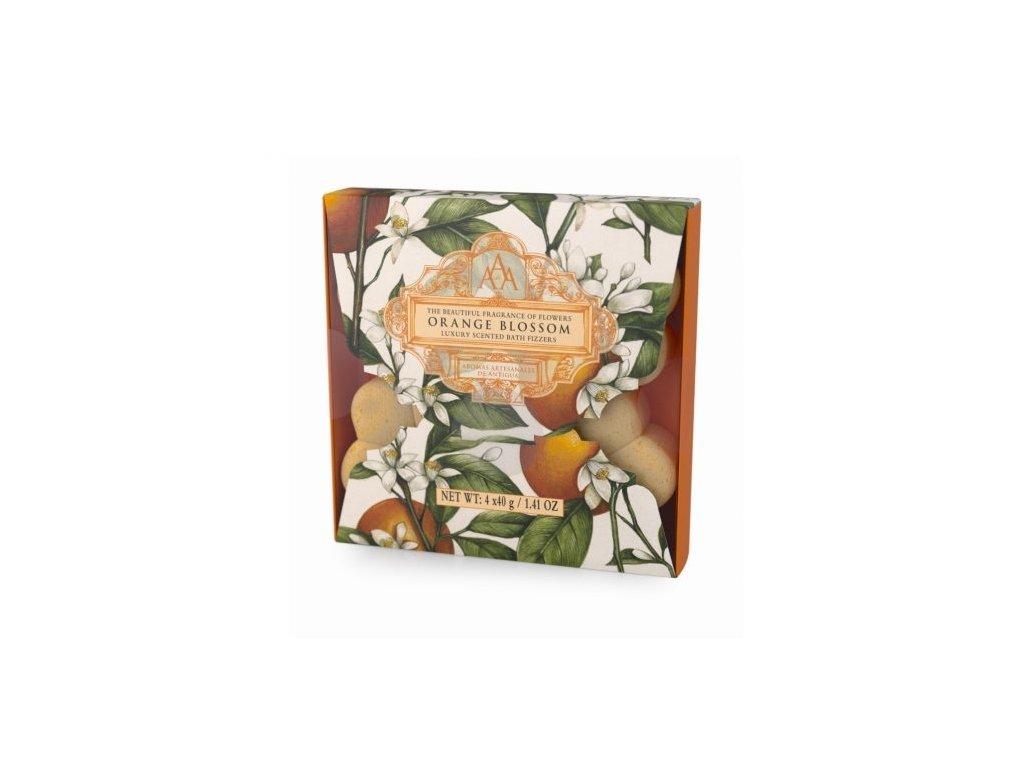 Somerset Toiletry Šumivá květina do koupele - Pomerančový květ, 4x40g