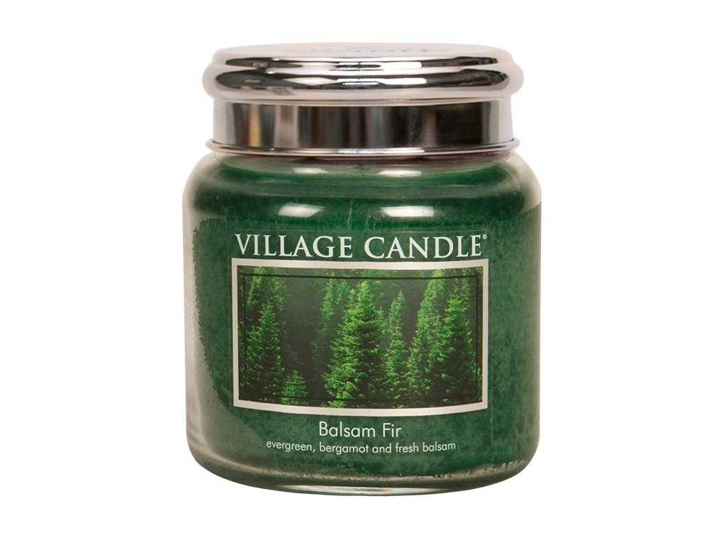 Village Candle Vonná svíčka ve skle - Jedle - Balsam Fir, 16oz