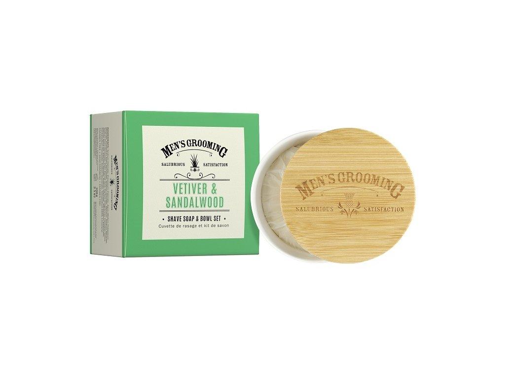 Scottish Fine Soaps Pánské Mýdlo na holení v dóze - Vetiver a Santalové dřevo, 100g
