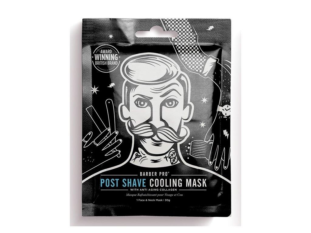 BarberPro Pánská Textilní Pleťová Maska po holení, 30g