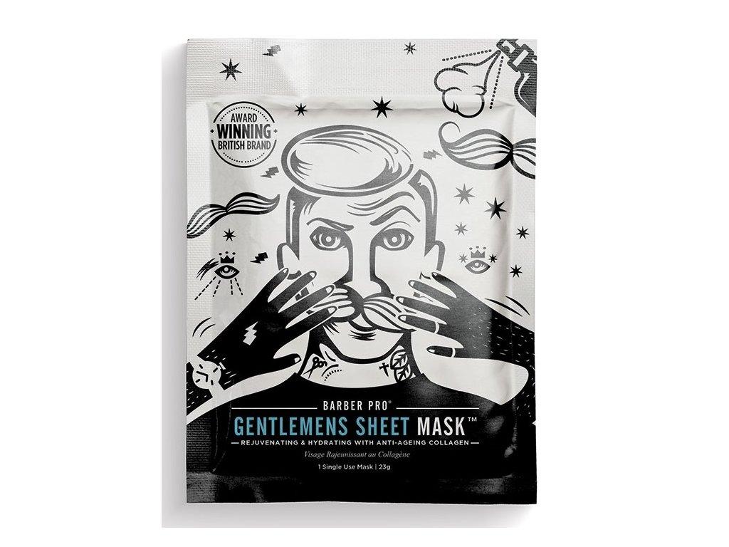 BarberPro Pánská Textilní Pleťová Maska, 23ml