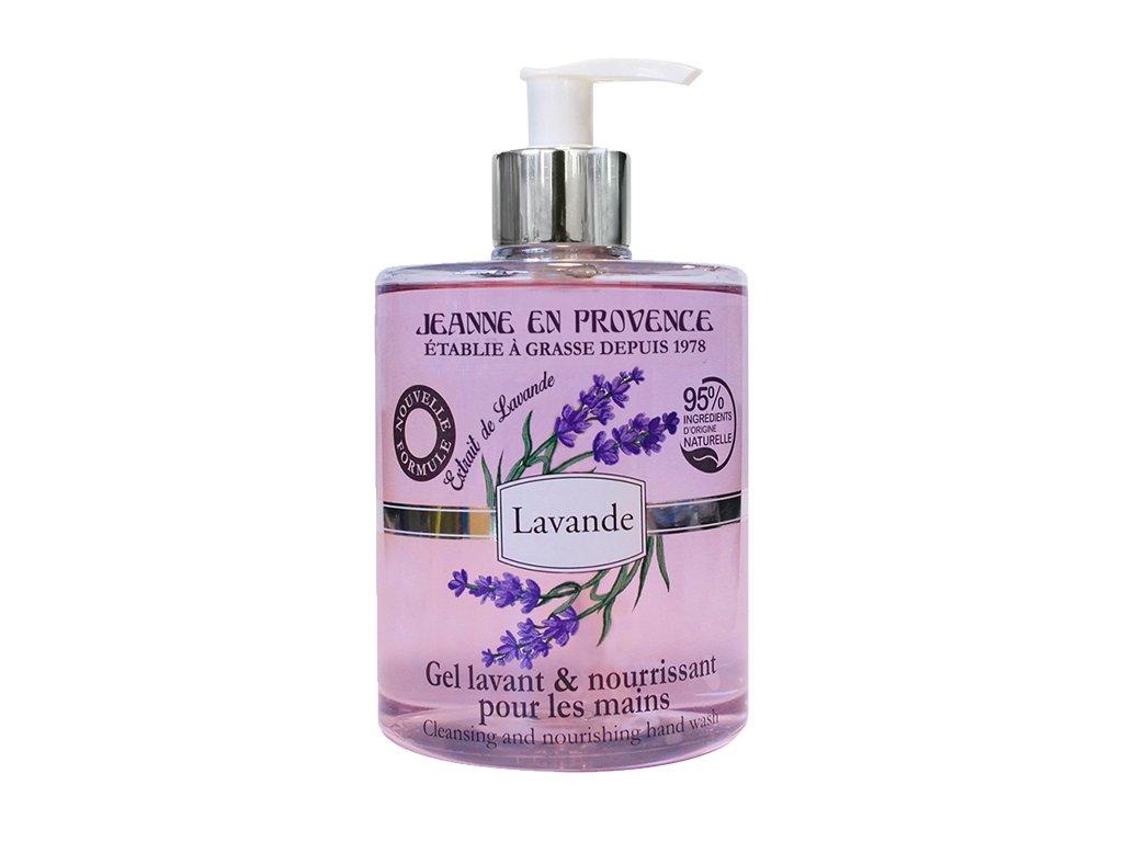 Jeanne en Provence Mycí gel na ruce - Levandule, 500ml
