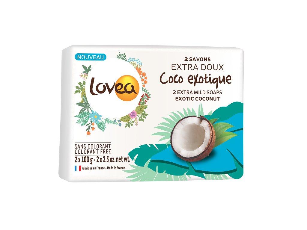 Lovea Extra jemné Mýdlo - Kokos, 2x100g