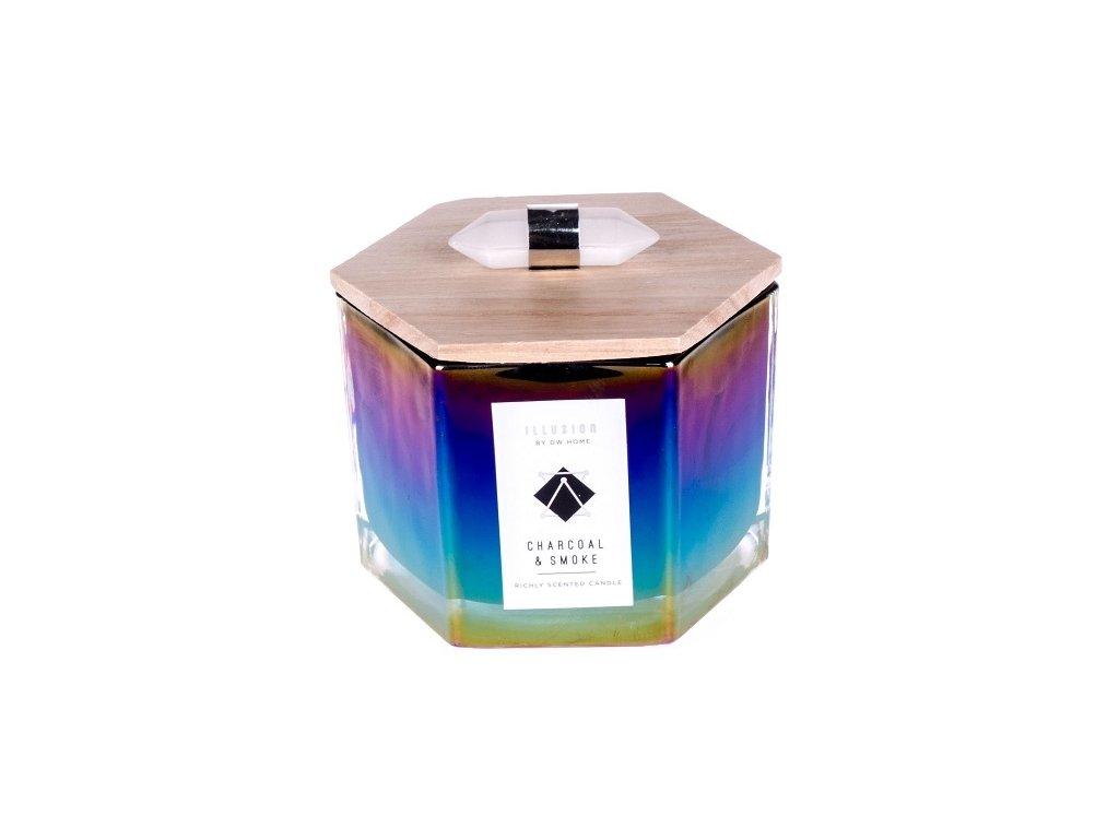DW Home Vonná svíčka ve skle Dřevěné uhlí a kouř - Charcoal & Smoke, 9oz