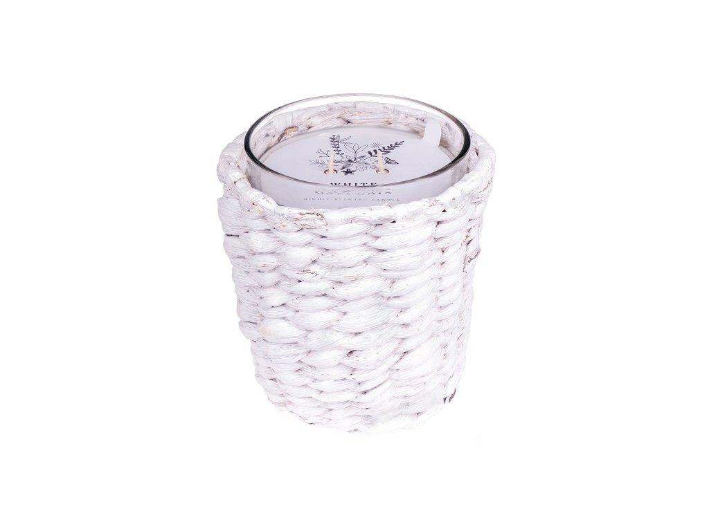 DW Home Vonná svíčka ve skle Bílá gardénie - White Gardenia, 30oz