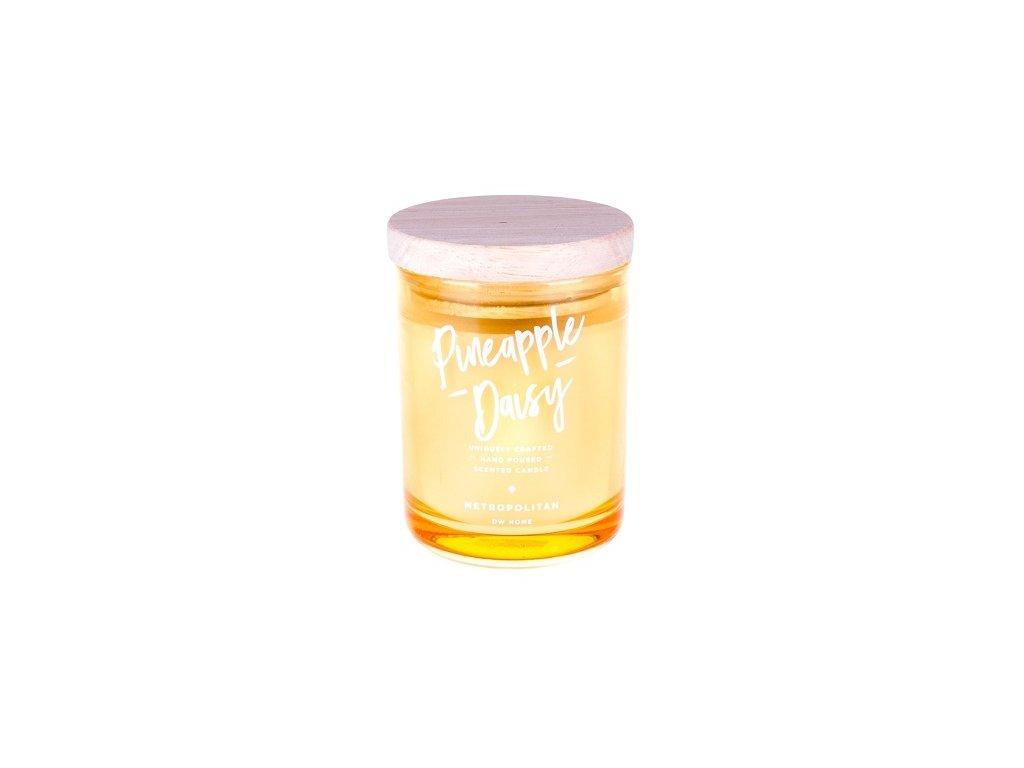 DW Home Vonná svíčka ve skle Ananas a sedmikráska -  Pineapple Daisy, 15oz