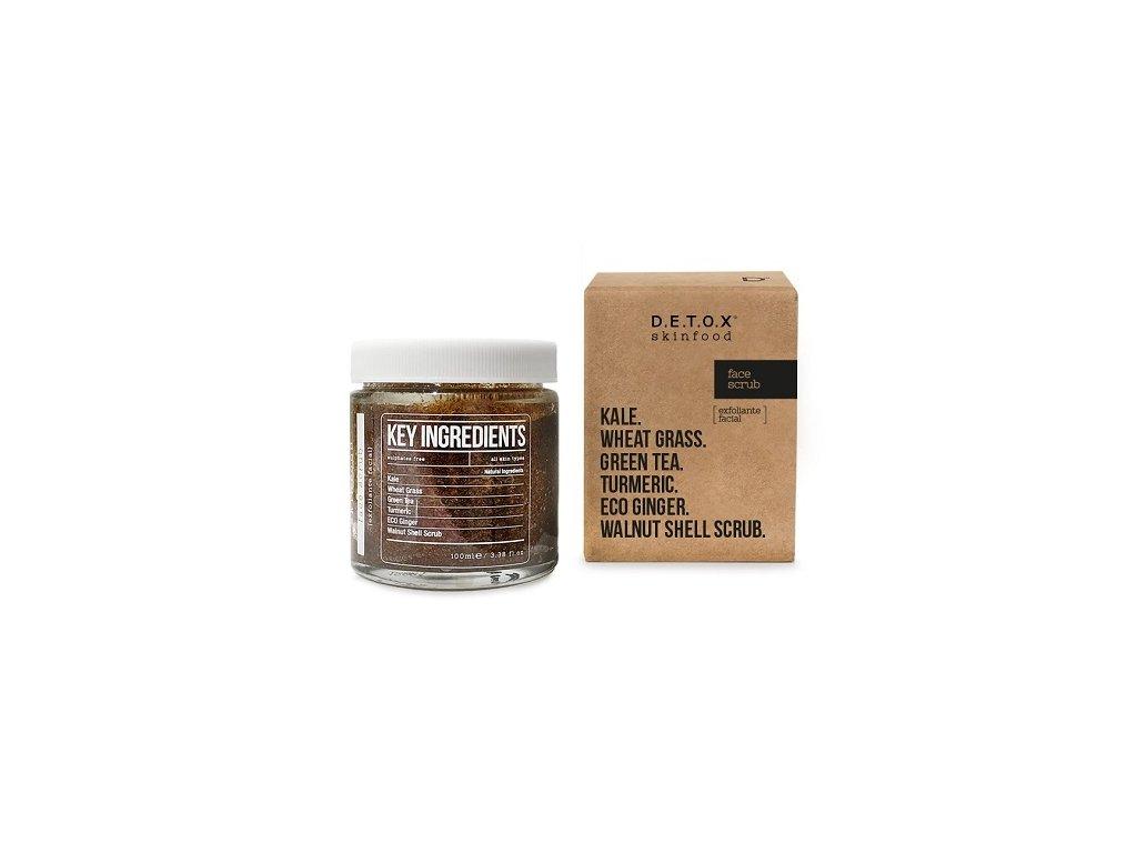Detox Skinfood Pleťový peeling, 100 ml