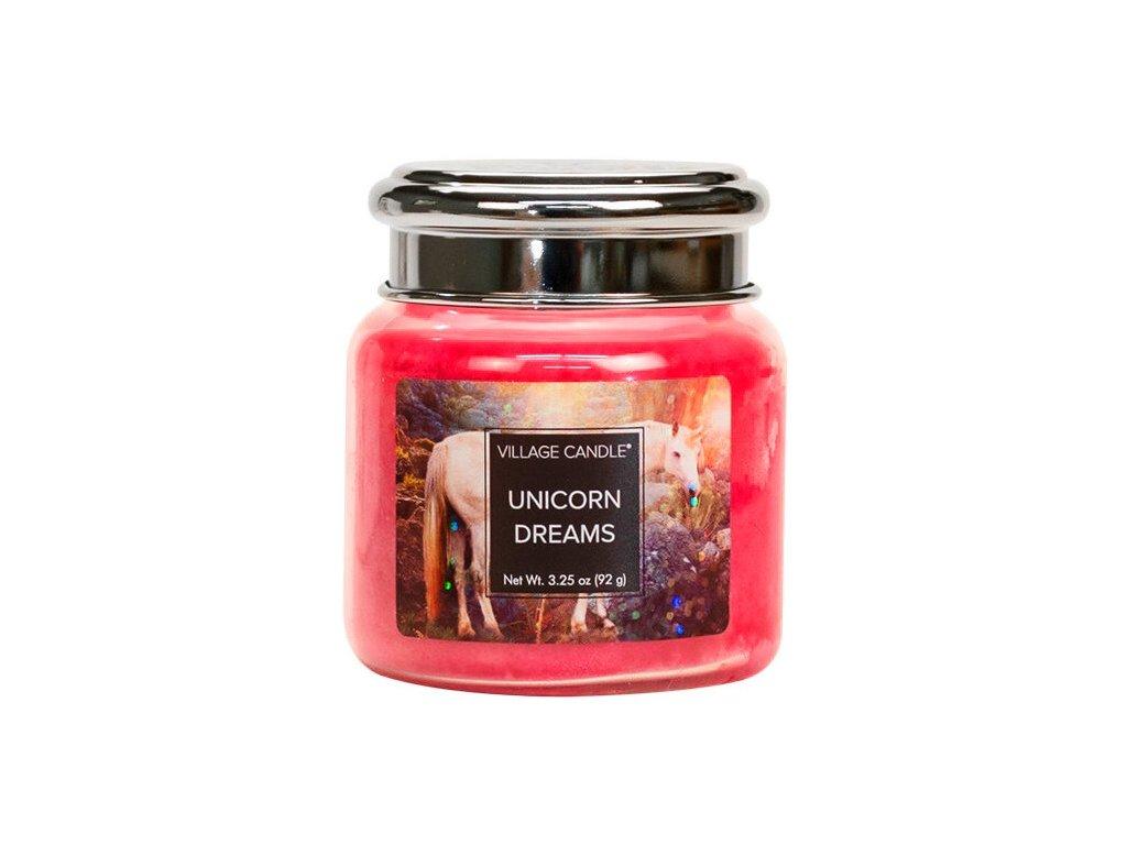 Village Candle Vonná svíčka ve skle, Sny jednorožce - Unicorn Dreams, 26oz