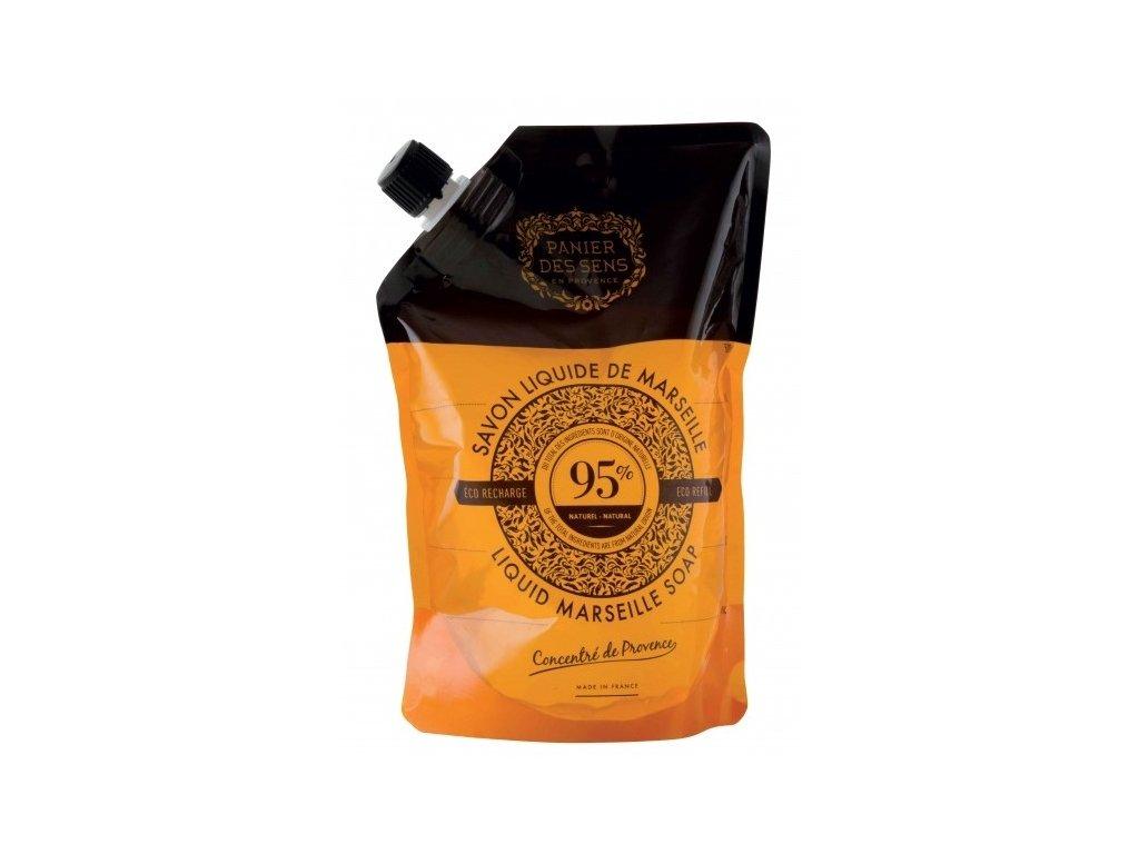 Panier des Sens Tekuté mýdlo náhradní náplň - Růže 500ml