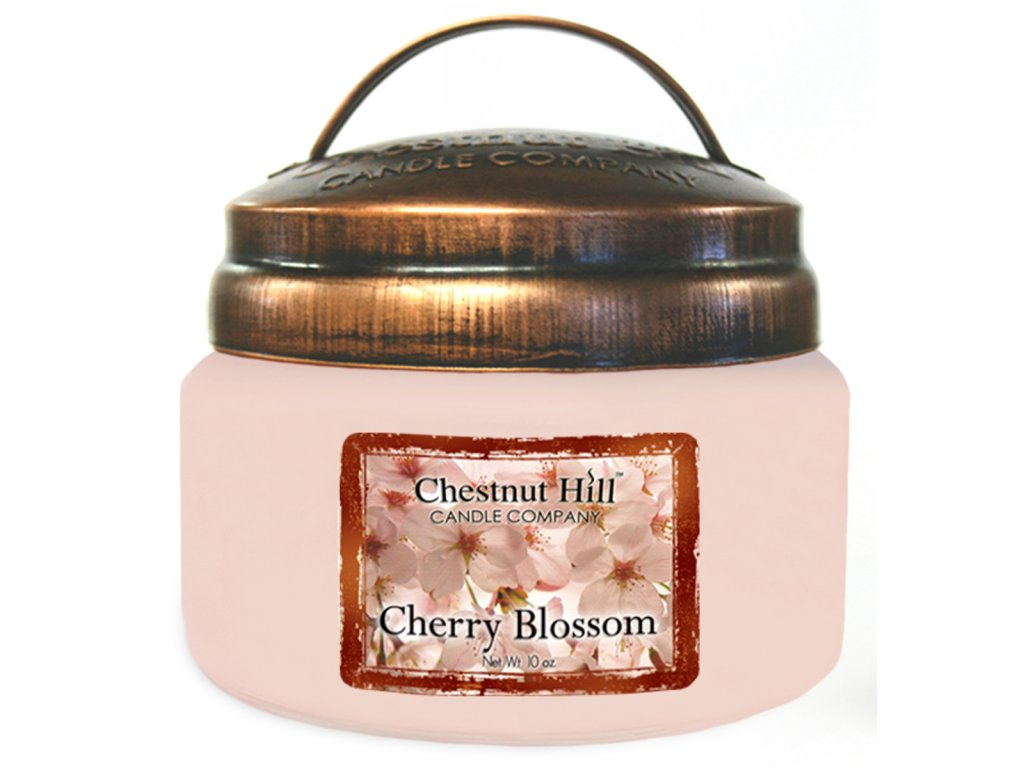 Chestnut Hill Vonná svíčka ve skle Květy třešní - Cherry Blossom, 10oz