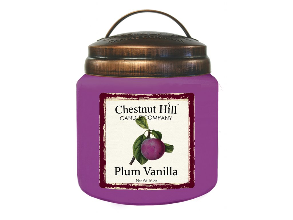 Chestnut Hill Vonná svíčka ve skle Švestka a vanilka - Plum Vanilla, 16oz