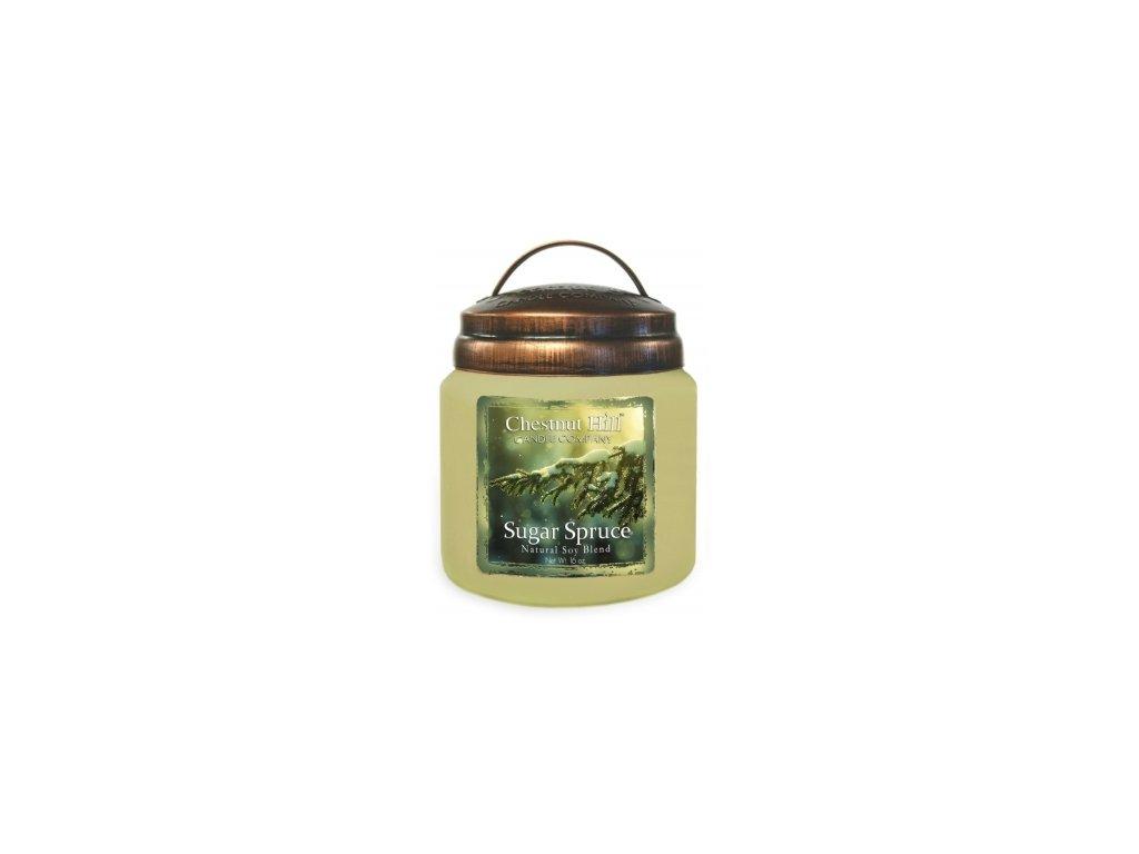 Chestnut Hill Vonná svíčka ve skle Sladký smrk - Sugar Spruce, 16oz