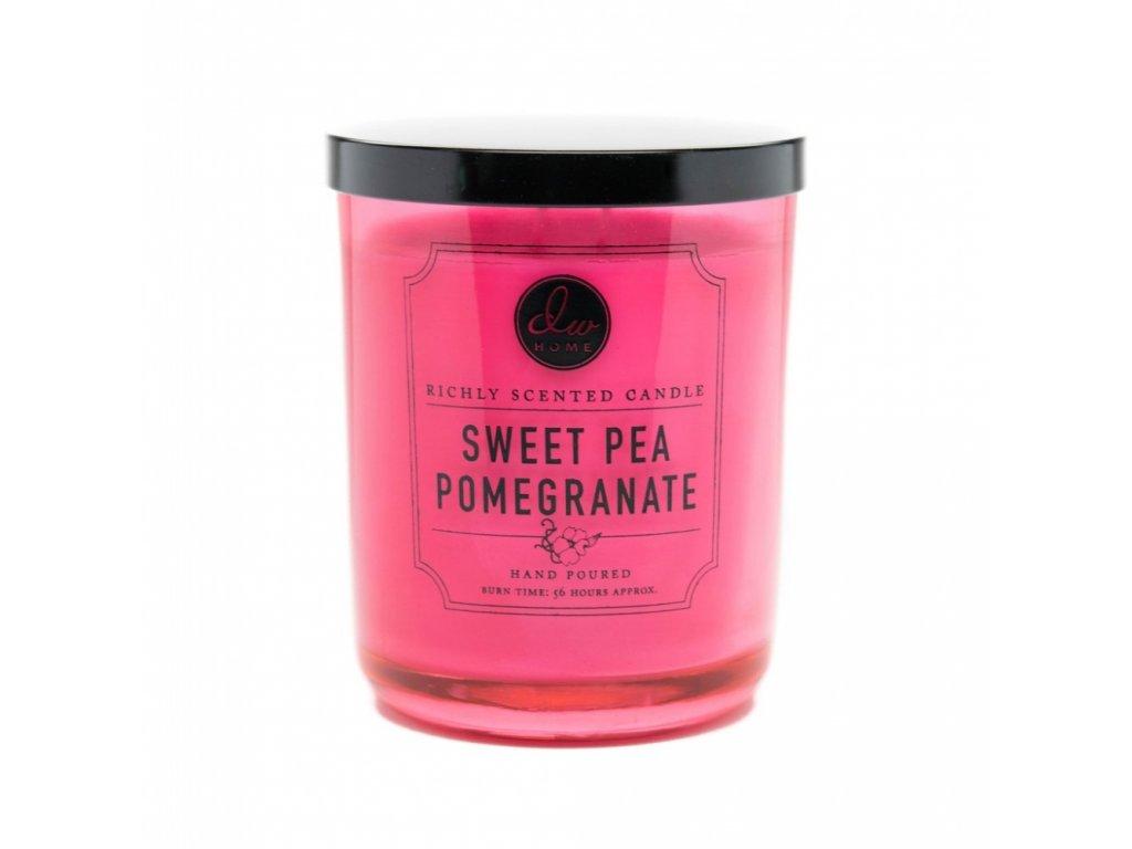 DW Home Vonná svíčka ve skle Sweet Pea Pomegranate 26,2oz