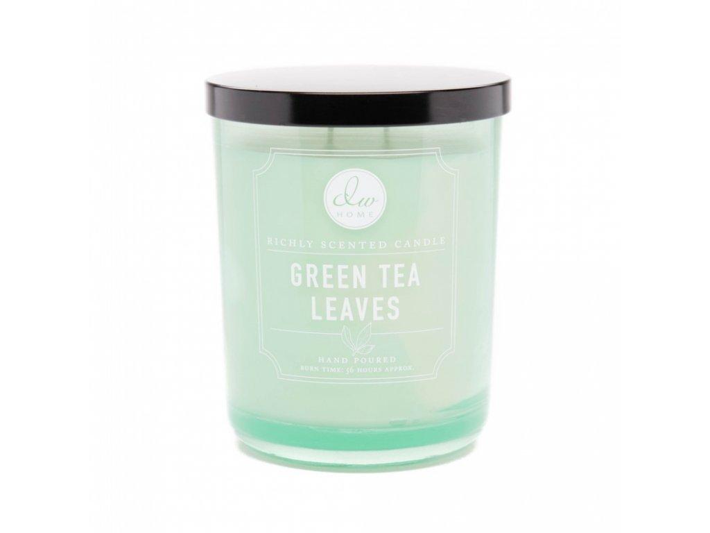 DW Home Vonná svíčka ve skle Green Tea Leaves 26,2oz