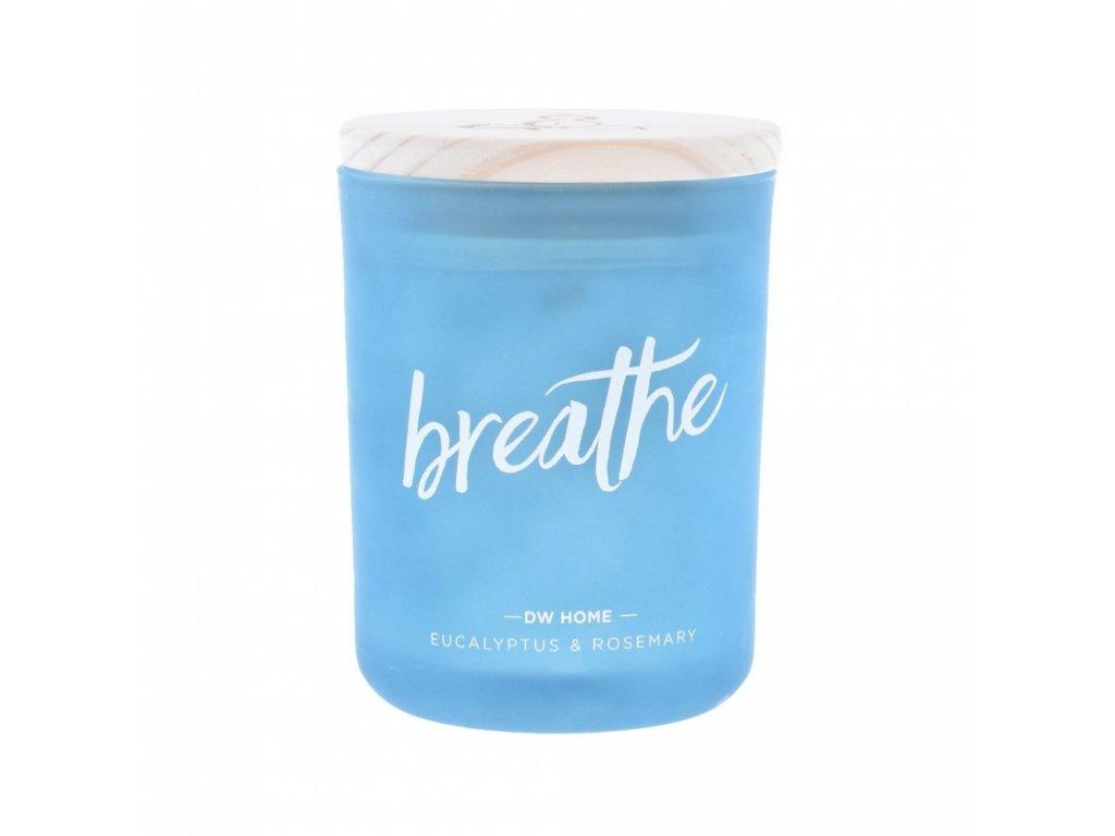 DW Home Vonná svíčka ve skle Breathe - Eucalyptus & Rosemary 27oz