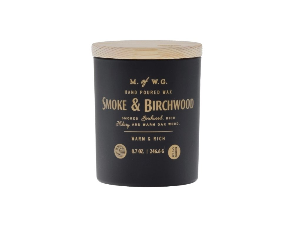 Makers of Wax Goods Vonná svíčka ve skle Smoke & Birchwood 8,7oz