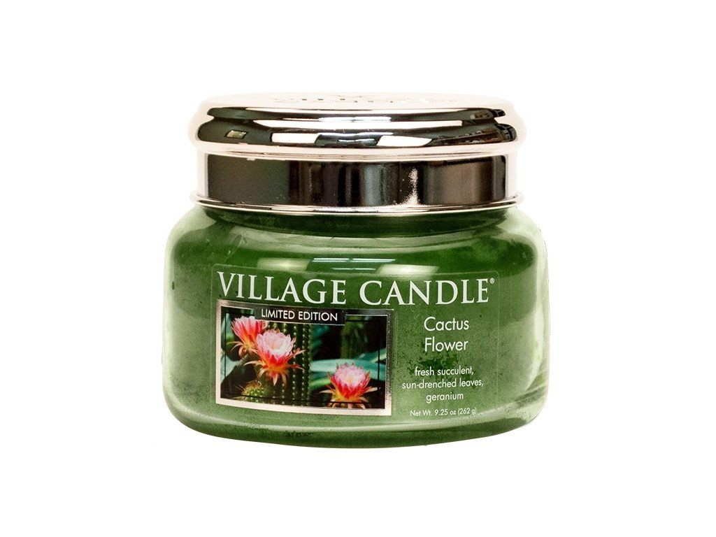 Village Candle Vonná svíčka ve skle - Cactus Flower, 11oz
