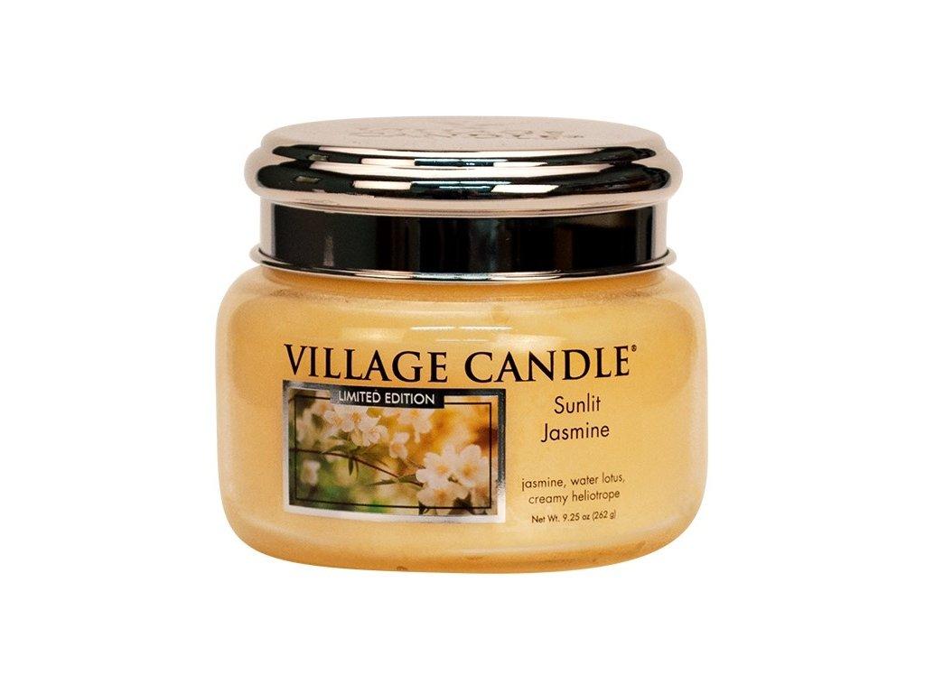 Village Candle Vonná svíčka ve skle - Sunlit Jasmine, 11oz