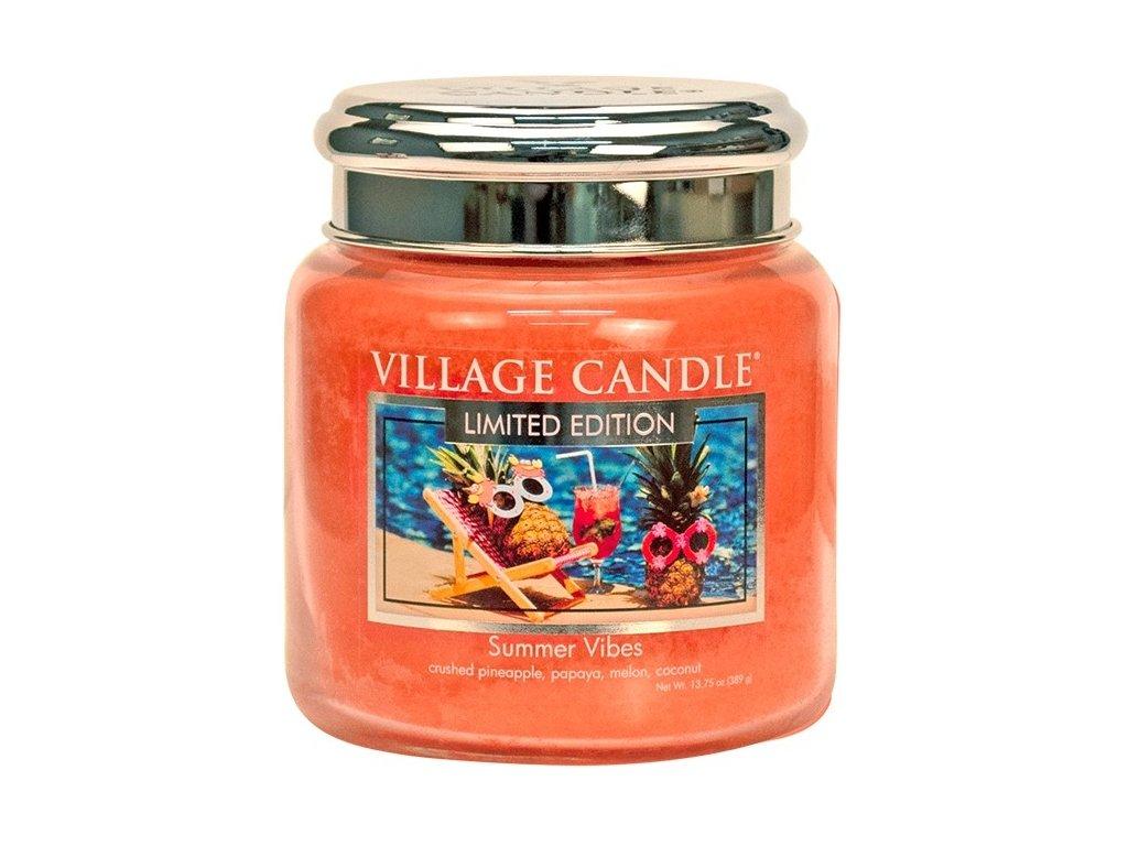 Village Candle Vonná svíčka ve skle - Summer Vibes, 16oz