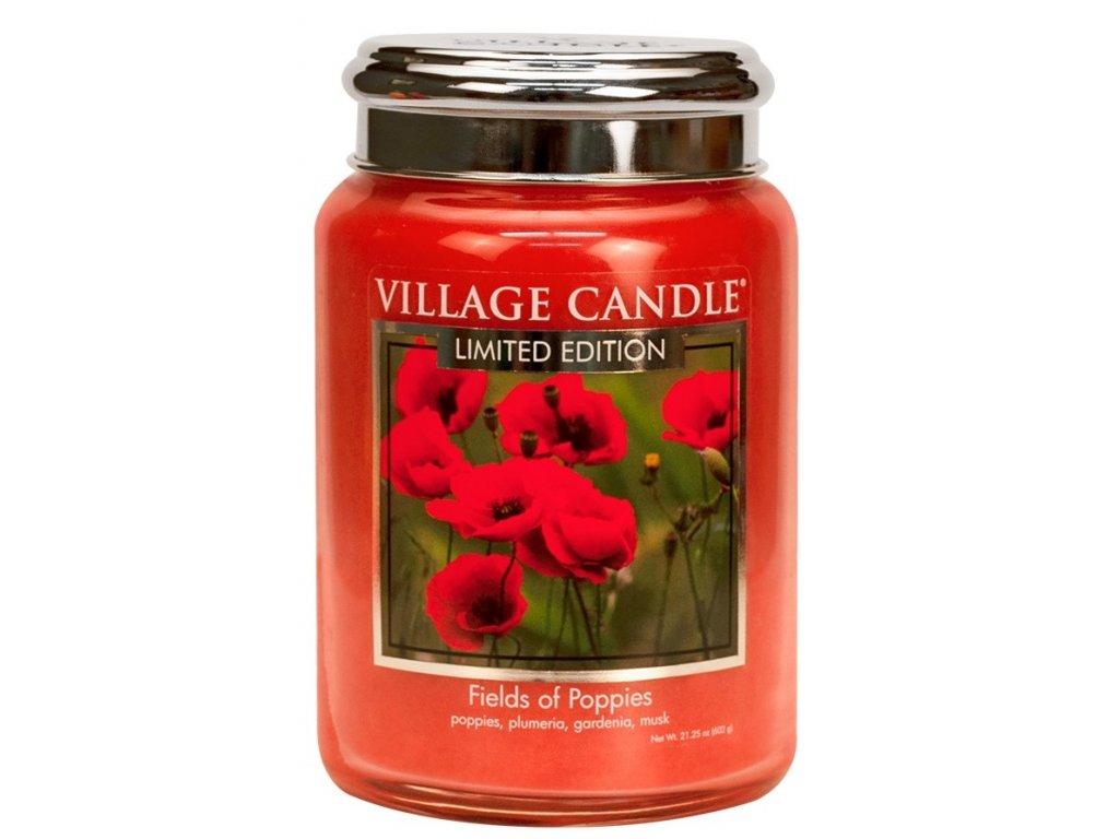 Village Candle Vonná svíčka ve skle - Fields Of Poppies, 26oz