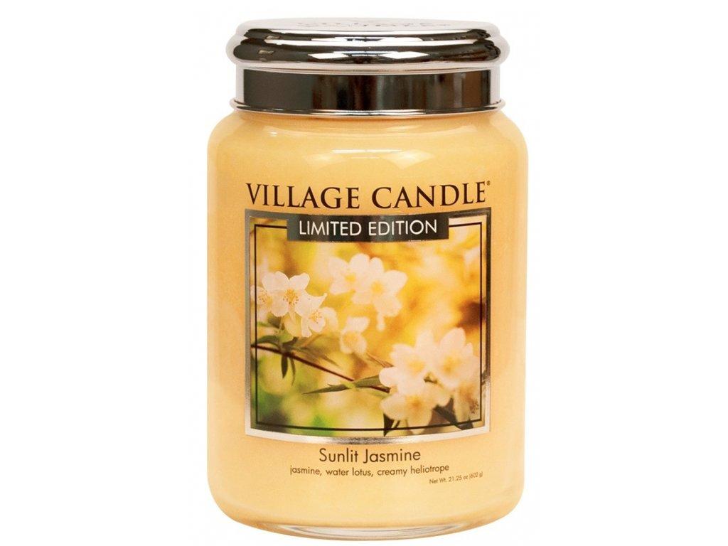 Village Candle Vonná svíčka ve skle - Sunlit Jasmine, 26oz