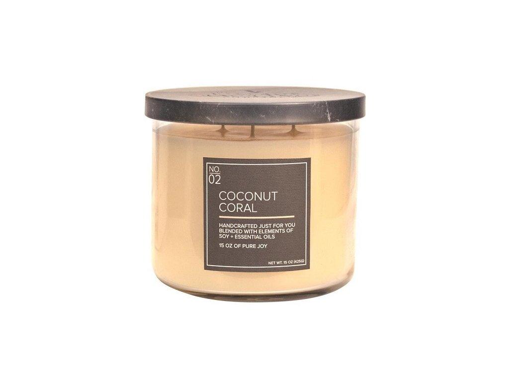 Village Candle Vonná svíčka ve skle - Coconut Coral 15oz