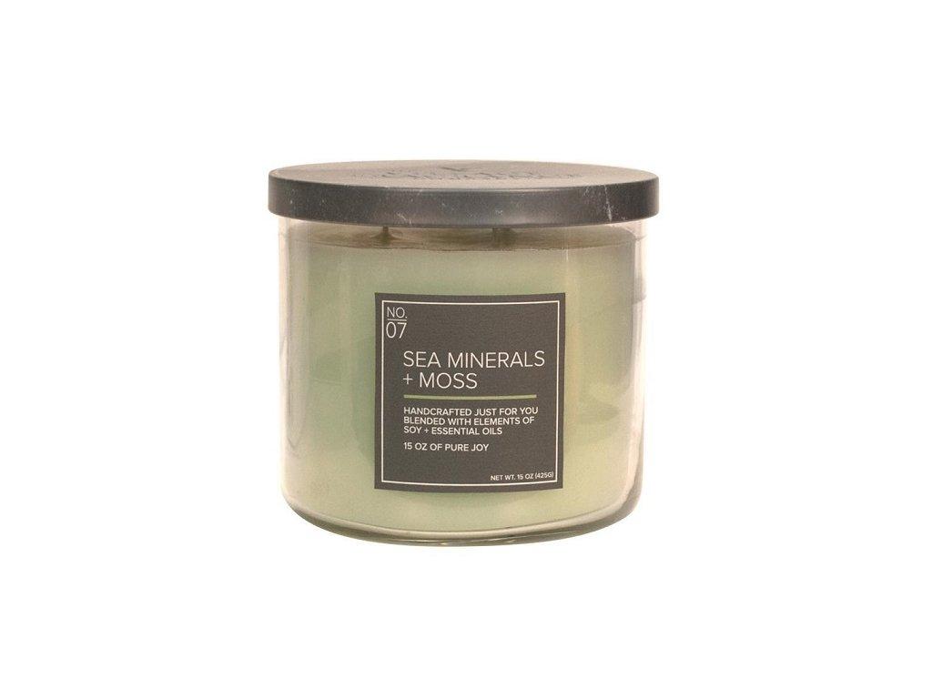 Village Candle Vonná svíčka ve skle - Sea minerals & Moss 15oz