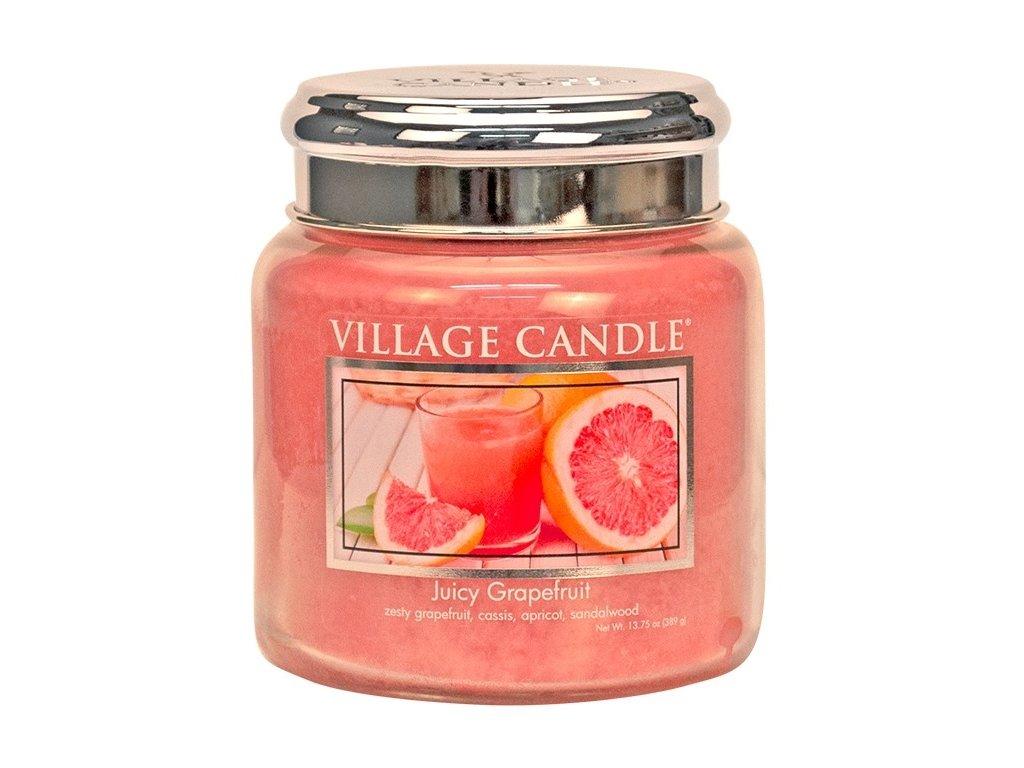 Village Candle Vonná svíčka ve skle - Juicy Grapefruit, 16oz
