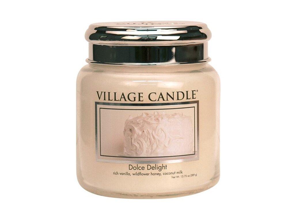 Village Candle Vonná svíčka ve skle, Sametové Potěšení - Dolce Delight, 16oz