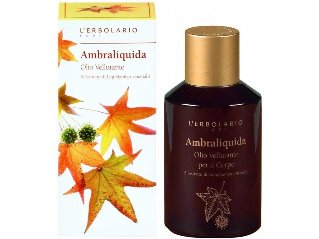 L´Erbolario Vyhlazující tělový olej - Ambraliquida 125ml