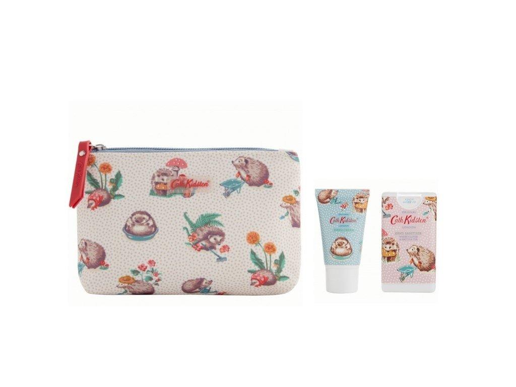Heathcote & Ivory Kosmetická taška (krém na ruce 30ml+ dezinfekce 15ml) - Ježci