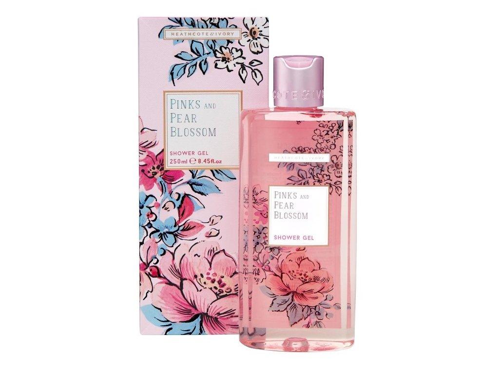 Heathcote & Ivory Osvěžující sprchový gel - Pinks & Pear Blossom, 250ml