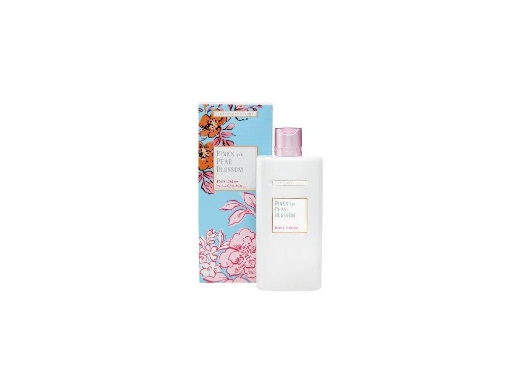 Heathcote & Ivory Vyživující tělový krém - Pinks & Pear Blossom, 250ml