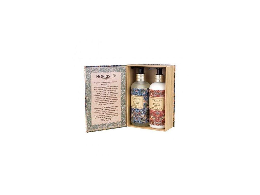 Heathcote & Ivory Sada péče o ruce (Tekuté mýdlo+Mléko na ruce)- Strawberry thief, 2x300ml