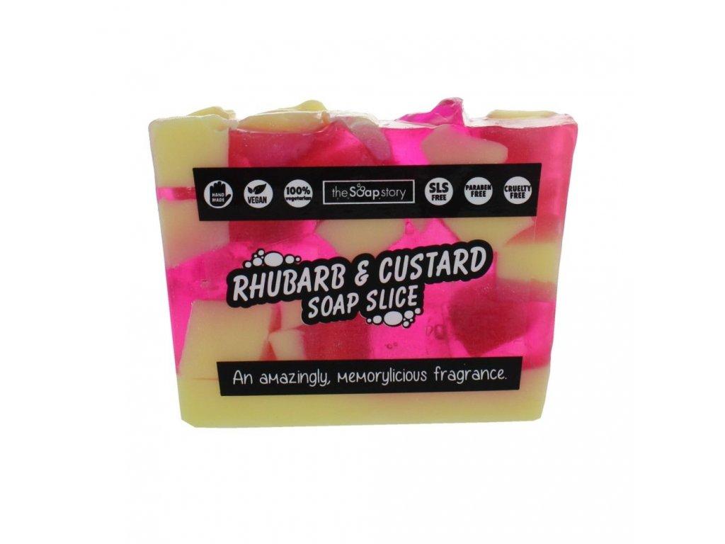 The Soap Story Mýdlový řez - Rhubarb & Custard, 120g