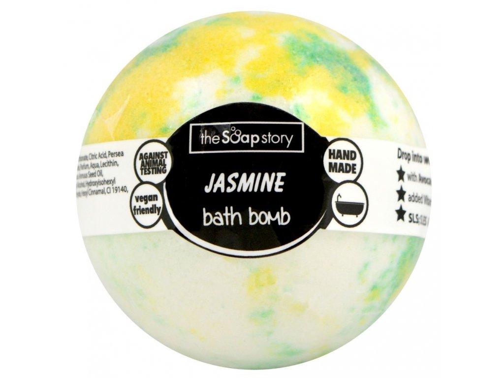 The Soap Story Šumivá bomba do koupele - Jasmine, 120g