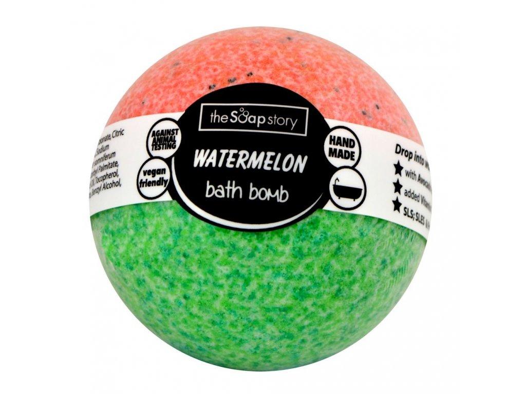 The Soap Story Šumivá bomba do koupele - Watermelon, 120g