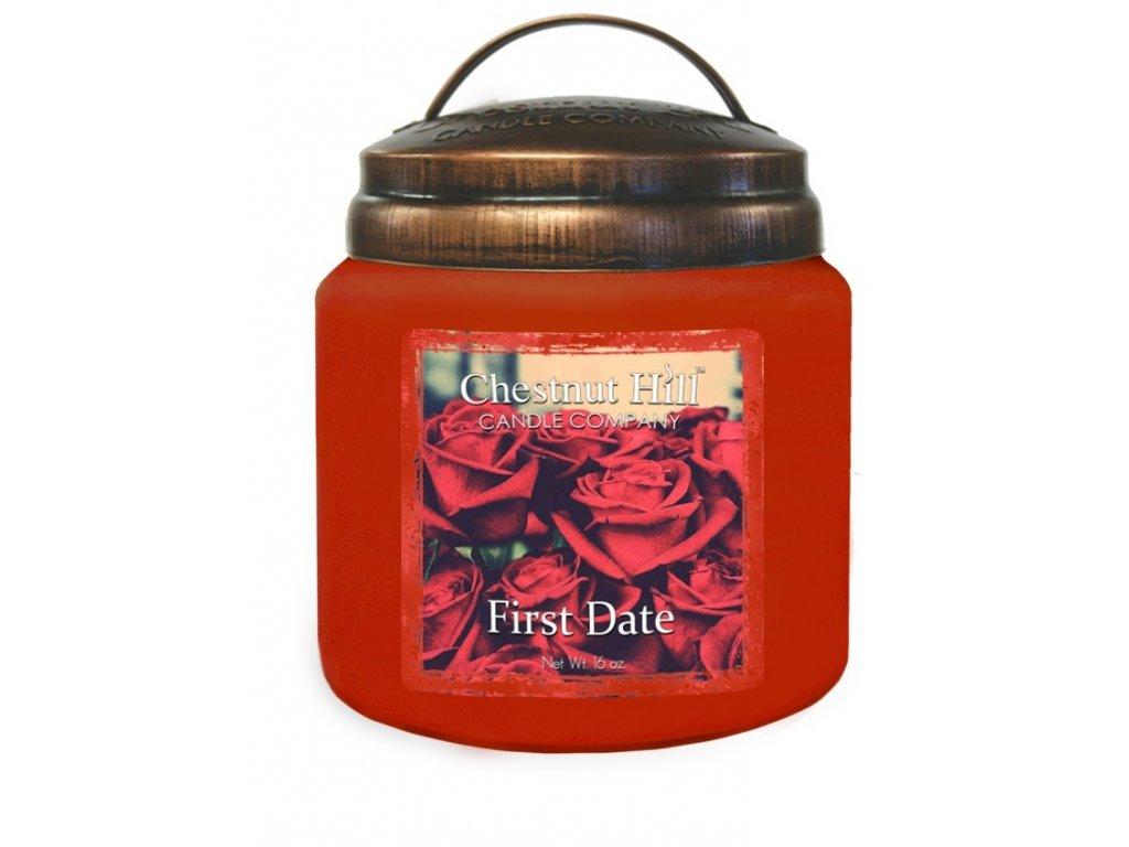 Chestnut Hill Vonná svíčka ve skle První rande - First Date, 16oz