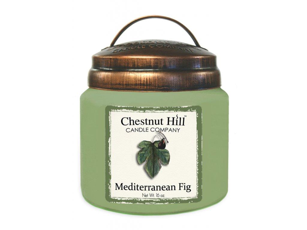 Chestnut Hill Vonná svíčka ve skle Středomořský fík - Mediterranean Fig, 16oz