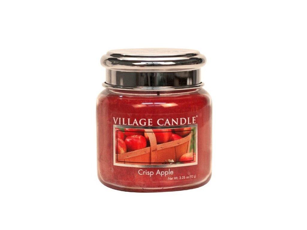 Village Candle Vonná svíčka ve skle, Svěží jablko - Crisp Apple 3,75oz