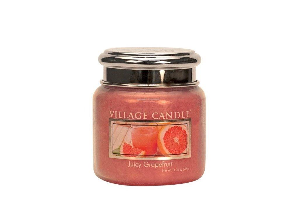 Village Candle Vonná svíčka ve skle, Juicy Grapefruit 3,75oz