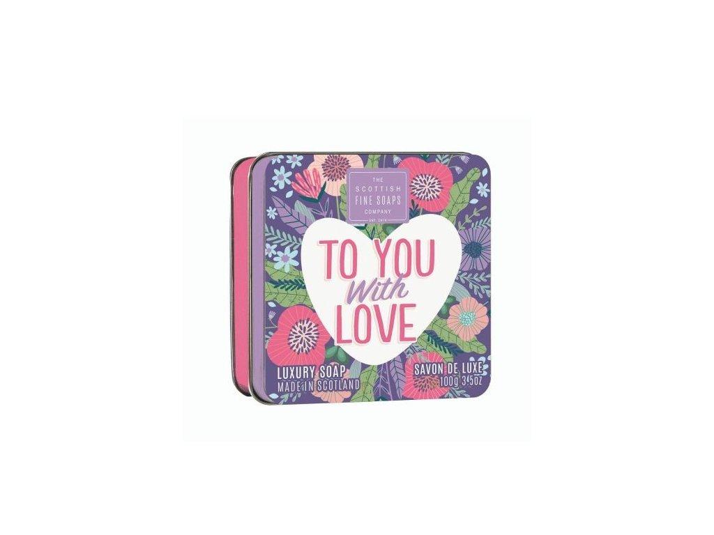 Scottish Fine Soaps Mýdlo v plechu - To You with Love, 100g