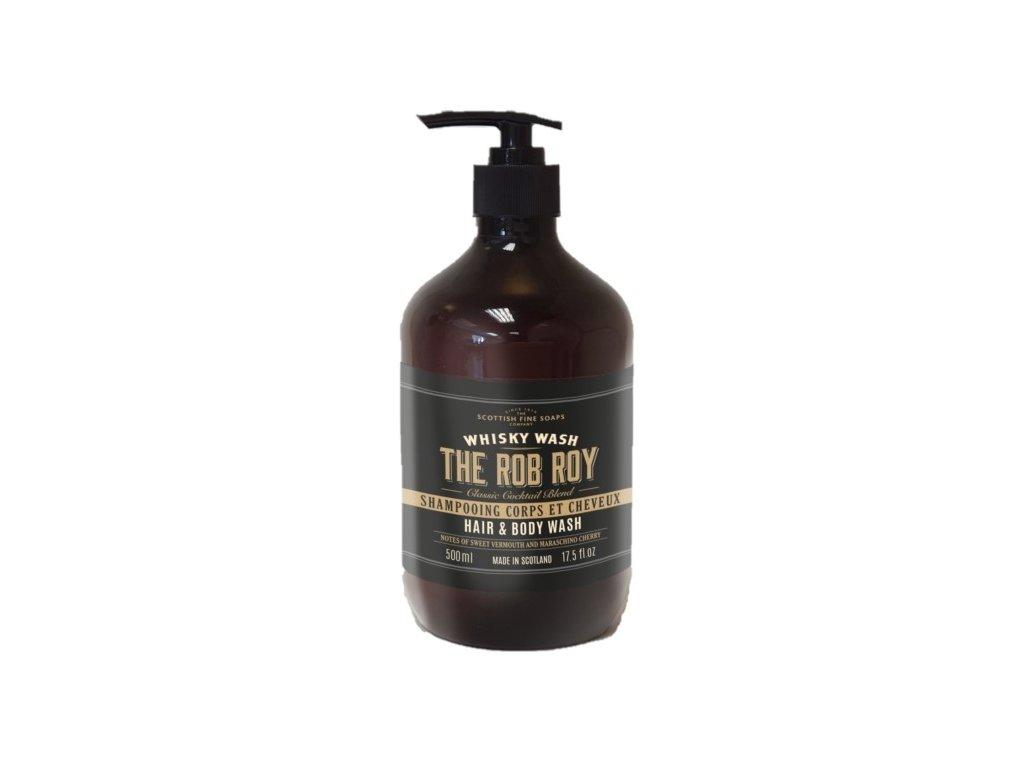 Scottish Fine Soaps Pánský Mycí gel na ruce a tělo - The Rob Roy Whisky, 500ml