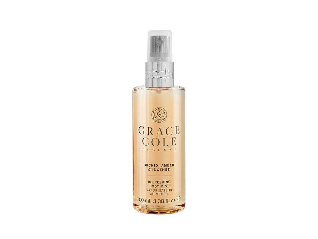Grace Cole Osvěžující mlha na tělo v cestovní verzi - Orchid, Amber & Incense, 100ml
